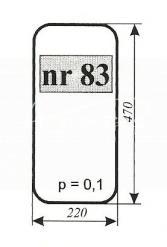 Szyba NR.83 boczna MTZ