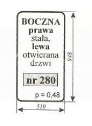 Szyba boczna prawa stała Bizon