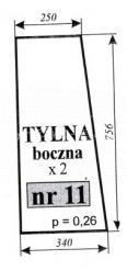 Szyba tył Zetor 7011