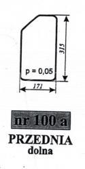 Szyba przednia dolna C-330 Chojnów