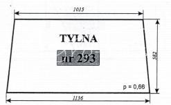SZYBA TYLNA C-330 CIECHANÓW