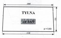 Szyba tylna C-330 Szyszka