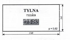SZYBA RAMKA TYLNA C-330