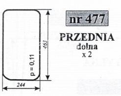 SZYBA PRZEDNIA DOL.C-330 KUNÓW N.T