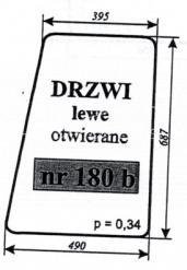 SZYBA DRZWI LEWE OTW.C-330 OSINY