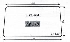 SZYBA TYLNA C-330 KAB.OSINY S.T