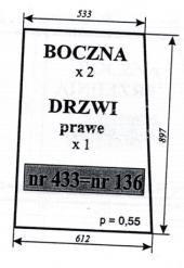SZYBA BOCZNA I DRZWI PRAWE T-25