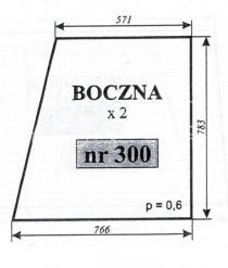 SZYBA BOCZNA C-330 SOKÓŁKA