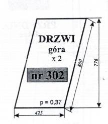 SZYBA DRZWI GÓRA C-330 SOKÓŁKA