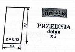 SZYBA PRZEDNIA DOLNA C-330