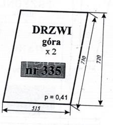 Szyba drzwi (góra) ciągników C-330 POM Zamość i C-360 POM Zamość