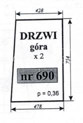SZYBA DRZWI GÓRA C-330 ZAMOŚĆ