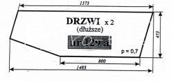 Szyba drzwi (dłuższe) do ciągnika C-360 - kabina czeska (nowy typ)
