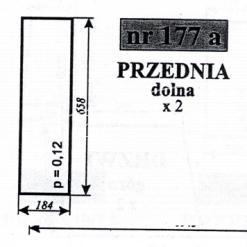 Szyba przednia dolna do ciągników C-360 KOŹMIN i MF-255 KOŹMIN (Szyszka, Stawowy, Moraś, Naglak, Skowroński)