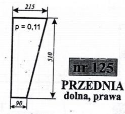 SZYBA PRZEDNIA DOL.PRAWA C-360