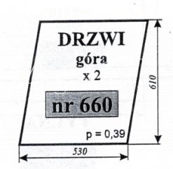 Szyba NR.660