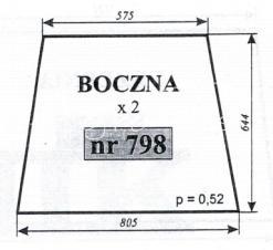 SZYBA BOCZNA C-360 SZYSZKA