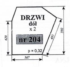 Szyba drzwi dół Zetor 5011 69117913