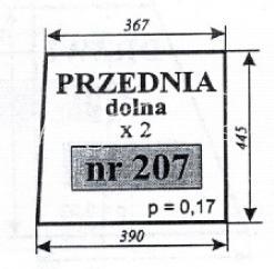 SZYBA PRZEDNIA DOLNA ZETOR 5211 69117948