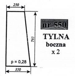 SZYBA TYLNA BOK ZETOR 5611 5718