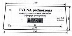 SZYBA TYLNA PODNOSZONA ZETOR 7211