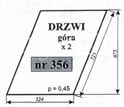 Szyba drzwi góra Zetor 7211