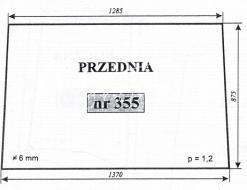 Szyba przednia Zetor 7211