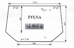Szyba tylna Zetor N. TYP 10540 9540 8540