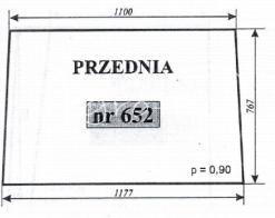 SZYBA PRZEDNIA ZETOR 12245 16245