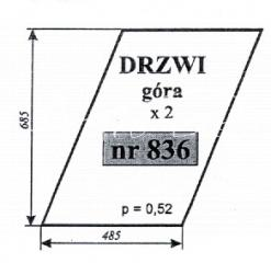 SZYBA DRZWI GÓRA ZETOR 6945