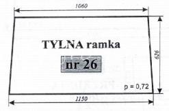 Szyba tylna ramka 1604 C-385 S.T