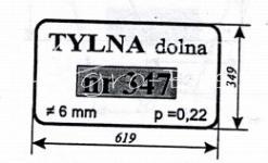 Szyba tylna dolna Ursus 1634