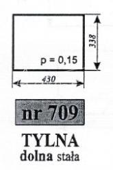 Szyba NR 709