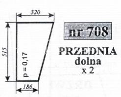 SZYBA NR.708 PRZÓD DÓŁ MF SMOL.