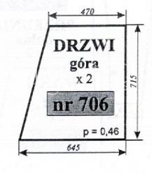 Szyba NR.706