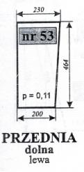 Szyba przednia dol.lewa MF 255