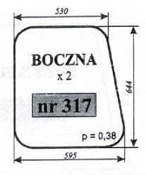 Szyba boczna MF-235