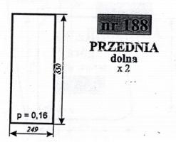 SZYBA PRZEDNIA DOLNA MF-255