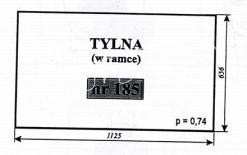 SZYBA TYLNA FF-255