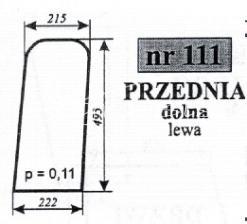SZYBA PRZEDNIA MF255 LUBSKO