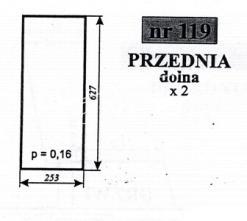 Szyba przednia dolna MF-255 Sokółka