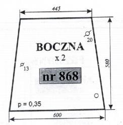 SZYBA NR 868
