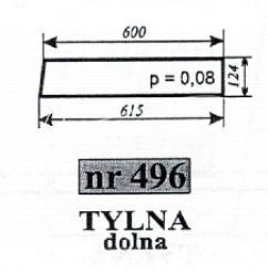 Szyba NR.496