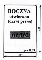 SZYBA BOCZNA OTWIERANA T-25