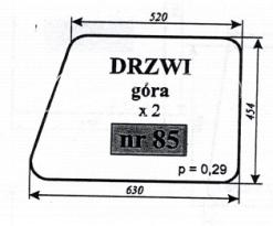 SZYBA DRZWI GÓRA MTZ-82