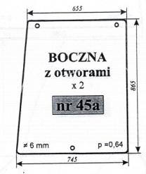 Szyba boczna MTZ-82 z otw.