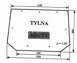 Szyba tylna do ciągnika Pronar 82A, 82SA, 82TSA, 1025A, 1221A