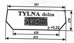 SZYBA TYLNA DOLNA URSUS 2802 OGRODNIK