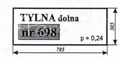 Szyba NR.698