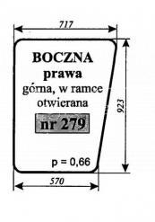Szyba boczna prawa górna Bizon